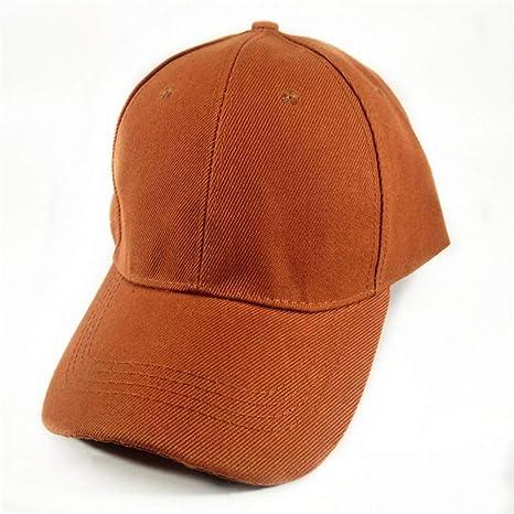 WYLBQM Sombrero Sólido Gorras de béisbol Gorra en Blanco Sombrero ...