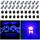 WLJH 74 Led Bulb Dash Lights Mini T5 2721 27 37 286 Wedge PC74 Twist Socket Automotive Instrument Panel Gauge Light Kits…