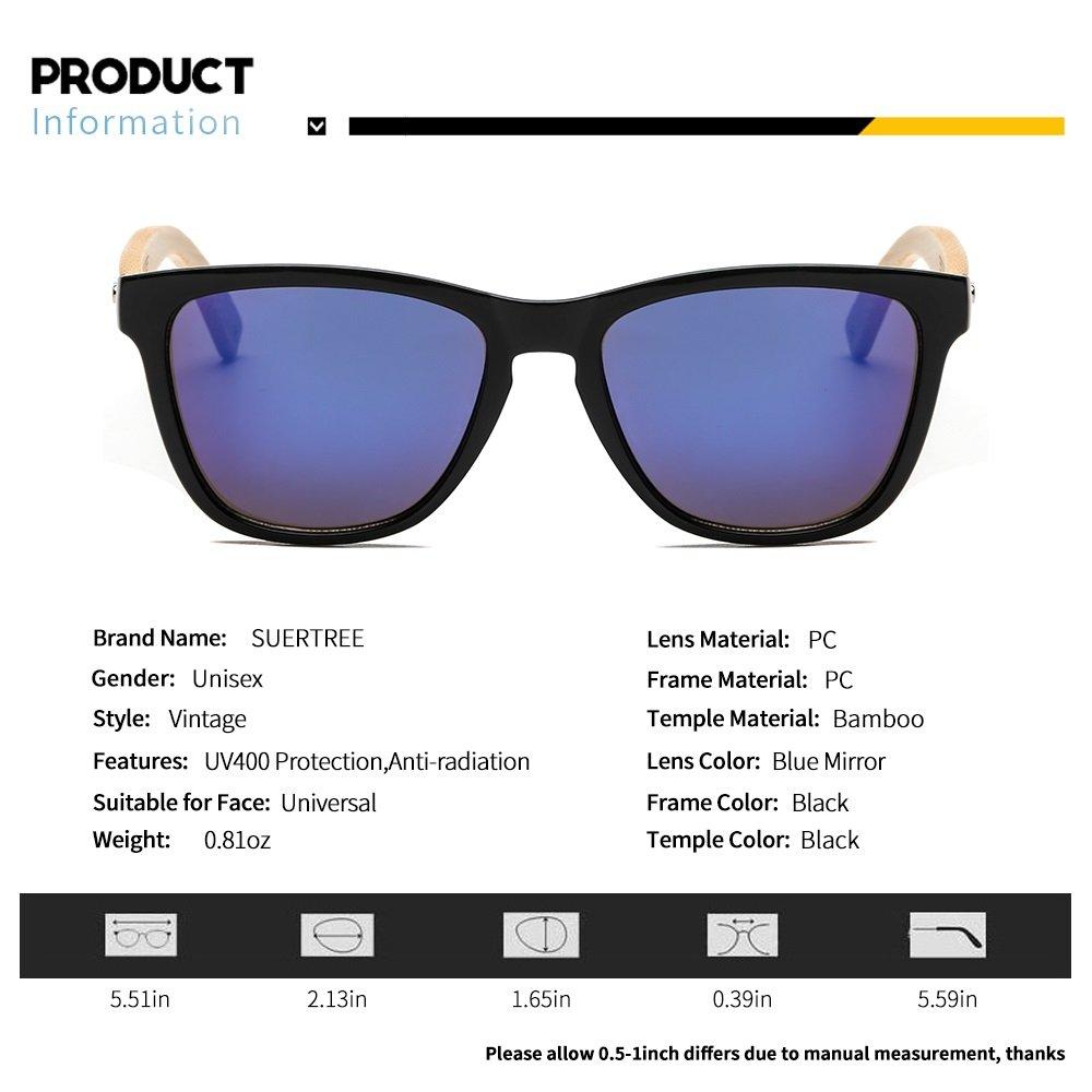 Amazon.com: Suertree JH8002 - Gafas de sol de madera de ...