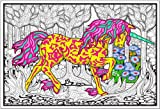 Forest Unicorn - 22x32.5 Giant Line Art Coloring Poster