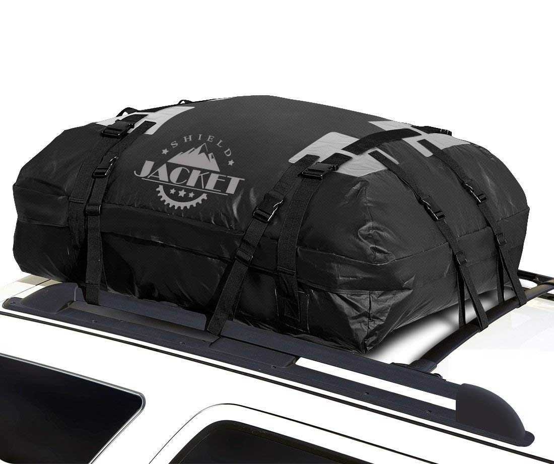 SHIELD JACKET Waterproof Roof Top Cargo Luggage Travel Bag (15 Cubic Feet) - Roof Top Cargo Carrier for Cars, Vans and SUVs - Great for Travel or Off-Roading - Double Vinyl Construction, Easy to Use [並行輸入品] B07R4VVKJK