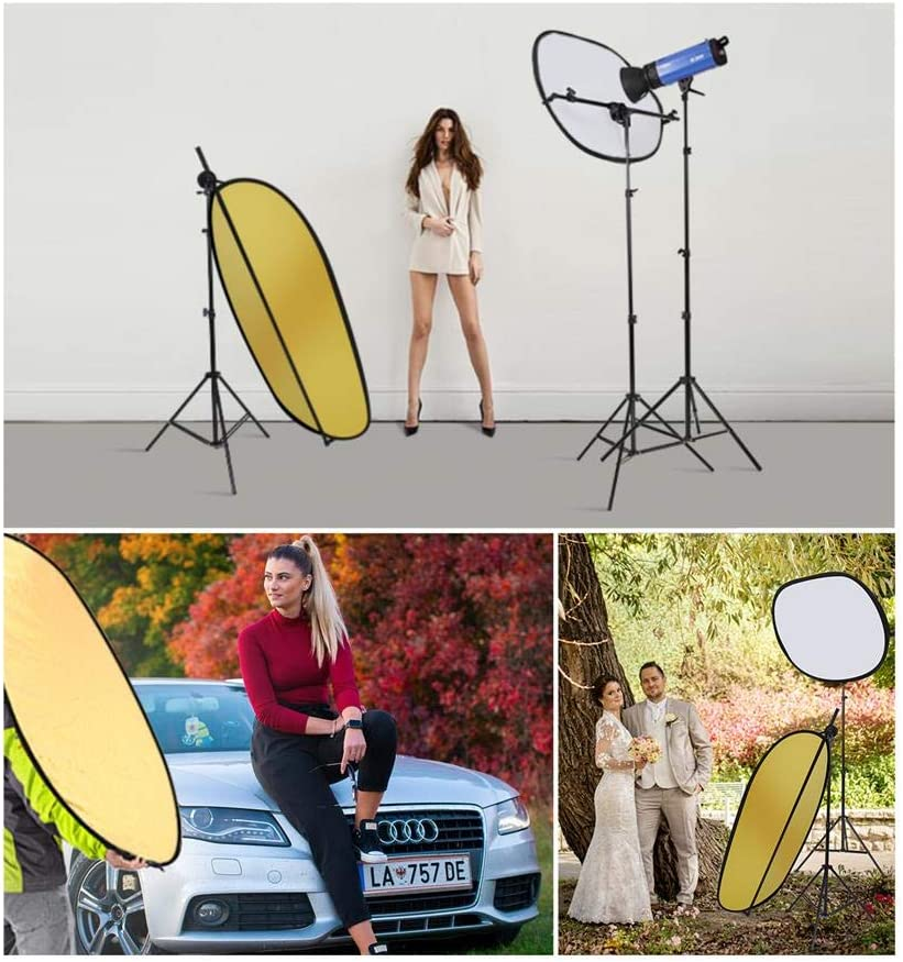 Selens 40x 60//100 x 150CM Photo Light Reflector Photography Kit 2-in-1 Gold /& Silver with Holder Clip and Carrying Case for Studio Outdoor Lighting