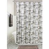 InterDesign Paris Soft Fabric Shower Curtain, 72x72-Inch, Cafe
