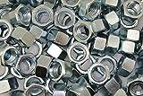 (100) 5/8-11 Grade 5 Hex Finish Nuts - Zinc Plated - Coarse