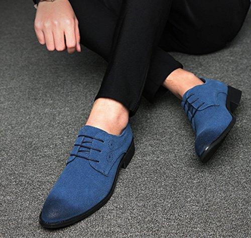 Uomini Blu Uomo 48 stile Inghilterra PU Pelle Dimensione casuale Bebete5858 Grande particolarmente scarpe Simple Extra scamosciato nCXqg