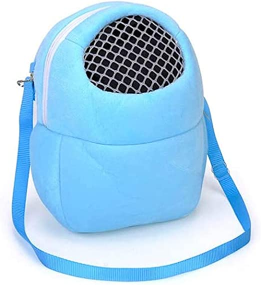 Hamsters Carrier Bag Portable Travel Backpack Breathable Outgoing Bag bonding Pouch for Small Pets Hedgehog, Hamsters, Sugar Glider, Chinchilla, Guinea Pig and Squirrel