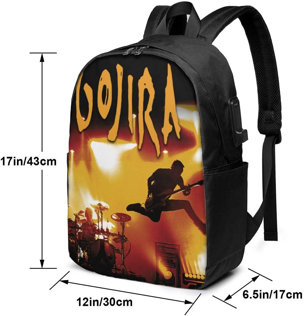 Outdoor Laptop Backpack for Men Women with USB Charging Port AsziSham Gojira 17 Inch Travel Backpack College Backpack Fits