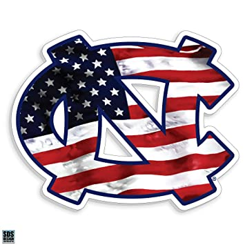 amazon com north carolina tarheels unc american flag logo auto rh amazon com american flag logo images american flag logos free