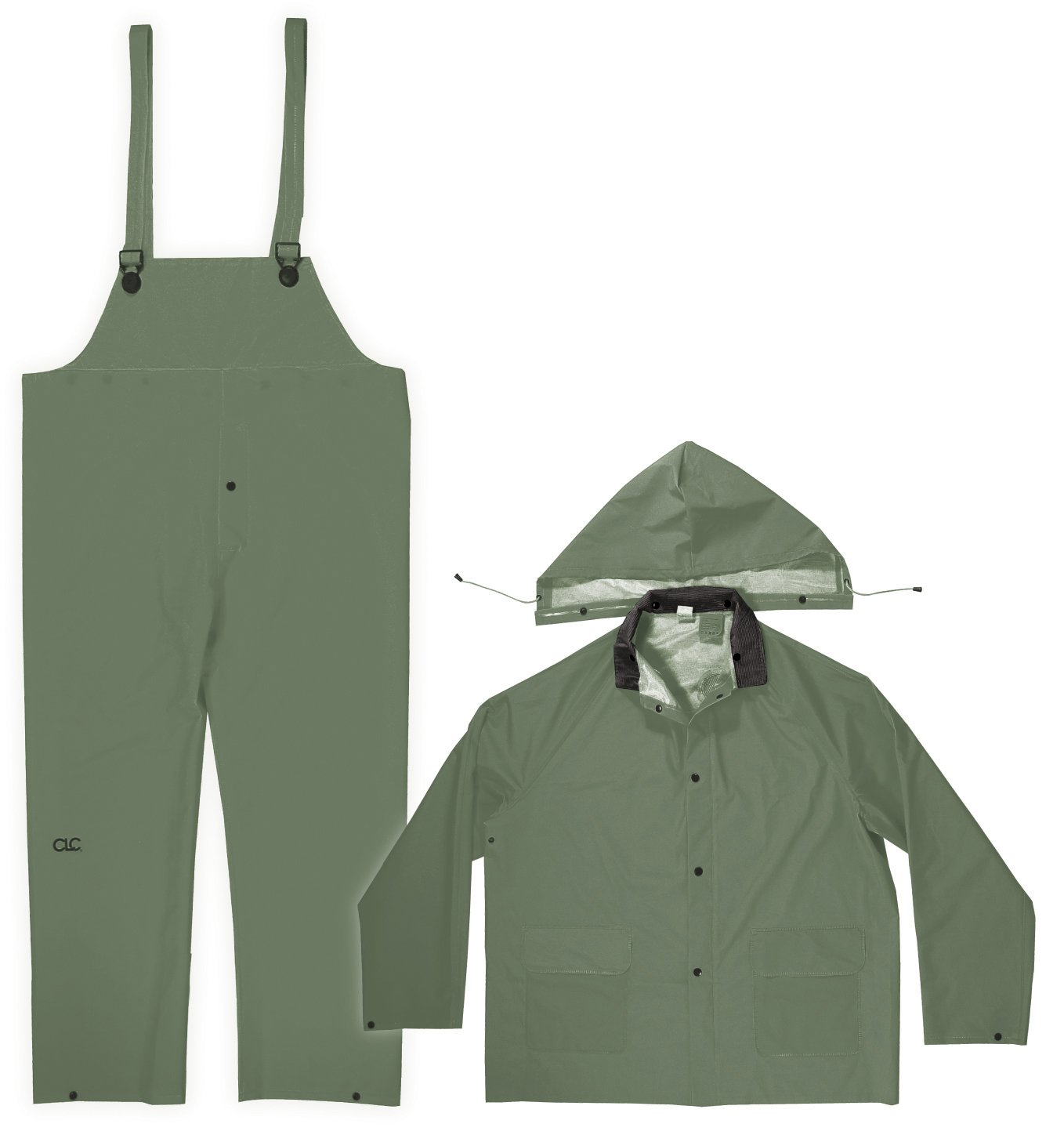 CLC Custom Leathercraft Rain Wear R131L .35MM Green 3-Piece Rain Suit, Large