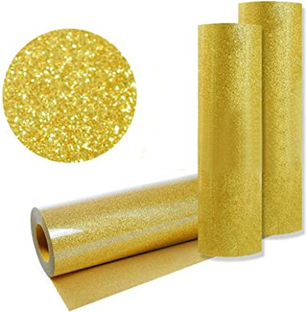 hoho] Golden brillantes transferencia de calor de prensa de calor de vinilo corte Plotter de Corte por DIY camiseta 50cm*2500cm / 20* 984 inches dorado: Amazon.es: Hogar