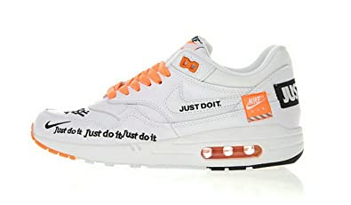 the latest aaae2 df4e1 Air Max 1 Just Do It White Orange Chaussures de Gymnastique Homme Femme