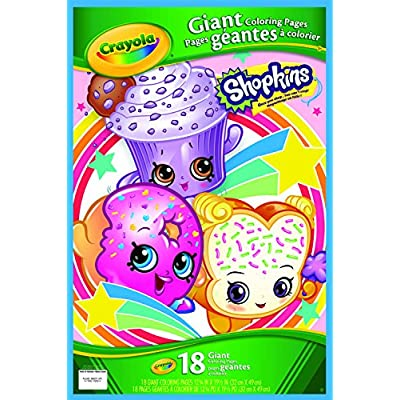Crayola Shopkins Giant Coloring Pages: Toys & Games