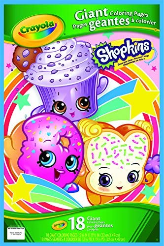 Amazon Com Crayola Shopkins Giant Coloring Pages Toys Games