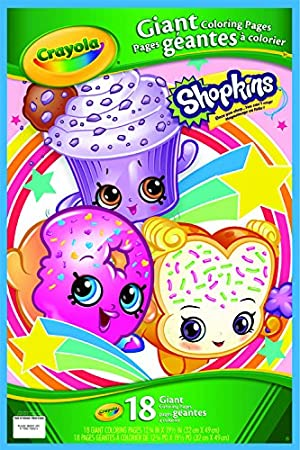 Shopkins - Páginas Gigantes para Colorear (Crayola 04-0252)