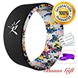Yoga Wheel - Strongest Most Comfortable Dharma Yoga Prop Wheel for Yoga Poses, Perfect Roller For...