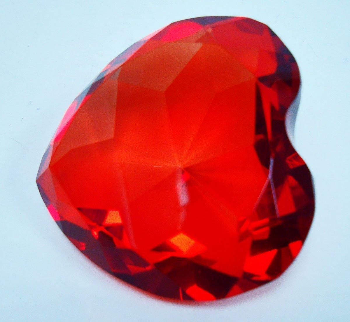 Rot Herzförmige Briefbeschwerer Glas Diamant 8,3 8,3 8,3 cm B00BGE22K0 | Haltbar  a233bf