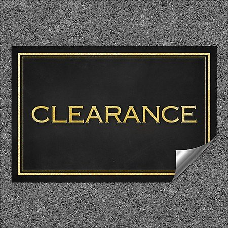 CGSignLab |''Clearance -Classic Gold'' Heavy-Duty Industrial Self-Adhesive Aluminum Wall Decal | 27''x18''