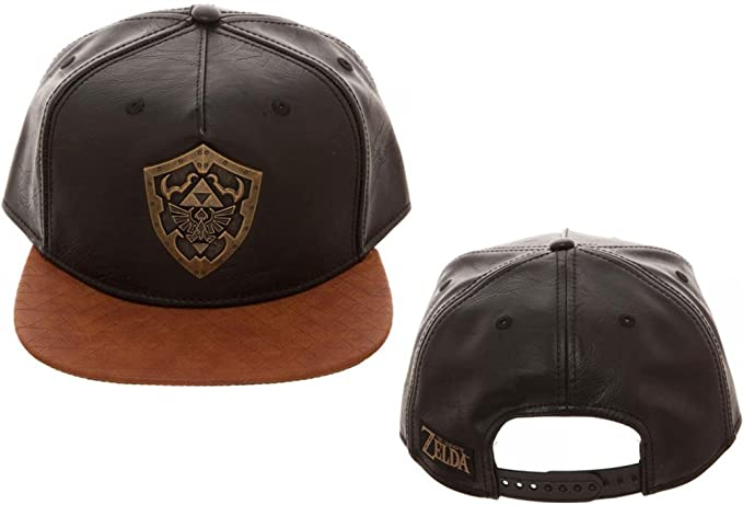 best service 1cafd 16c19 Image Unavailable. Image not available for. Colour  Zelda Metal Shield PU  Snapback