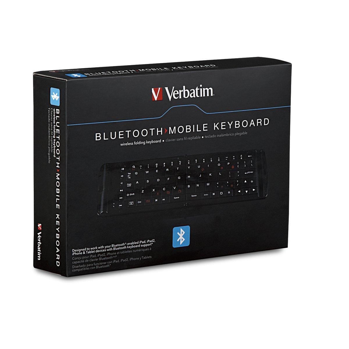 Verbatim 97537 - Teclado (Bluetooth, QWERTY, Negro, AAA, iOS 4 +): Amazon.es: Informática