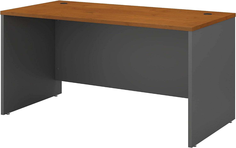 Bush Business Furniture Series C Office Desk, 60W x 30D, Natural Cherry