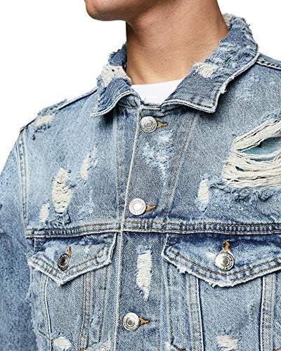 Zara 0840/424 - Chaqueta de Mezclilla para Hombre - Azul ...