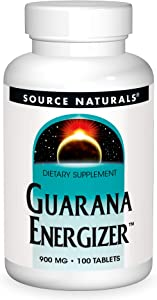 Source Naturals Guarana Energizer Dietary Supplement - Supports A Long Lasting Energy Boost - 100 Tablets