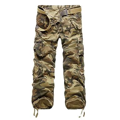Pantalones De Carga Larga Ocio De De Los Hombres Modernas Casual ...