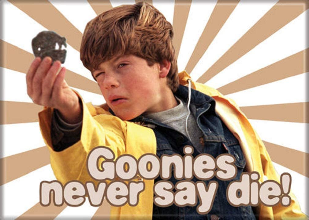 """Ata-Boy The Goonies Never Say Die 2.5"""" x 3.5"""" Magnet for Refrigerators and Lockers"""