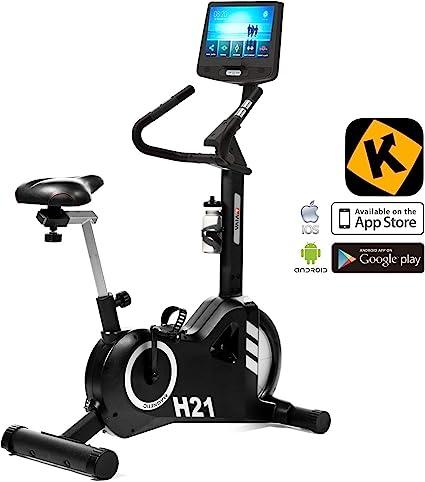 AsVIVA H21 Pro Bicicleta estática y aplicación, Bluetooth ...