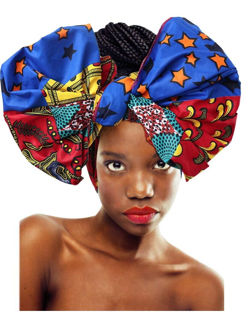 L'VOW Women' Soft Stretch Headband Long Head Wrap Scarf Turban Tie (X-001)