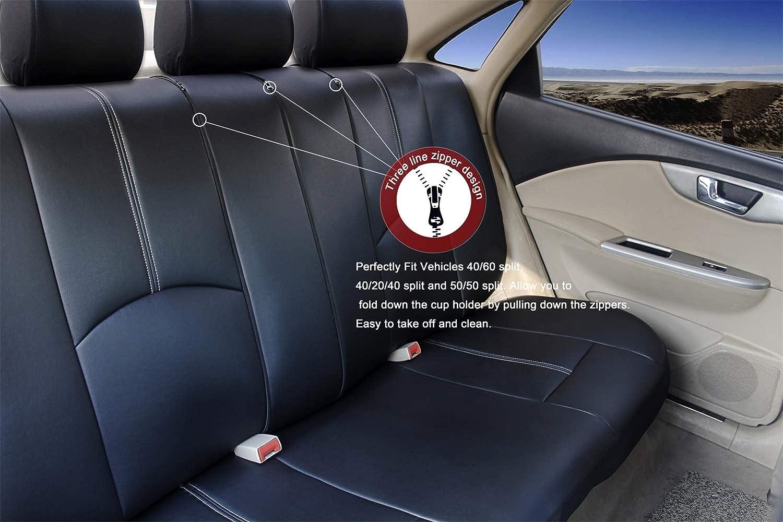 Nero/&Blu Set Completo di Fodere per Seggiolino Auto AUTO HIGH 11 Pezzi Coprisedili Universali per Auto Protezioni per la Parte Anteriore e Posteriore del Sedile in Pelle Sintetica Premium