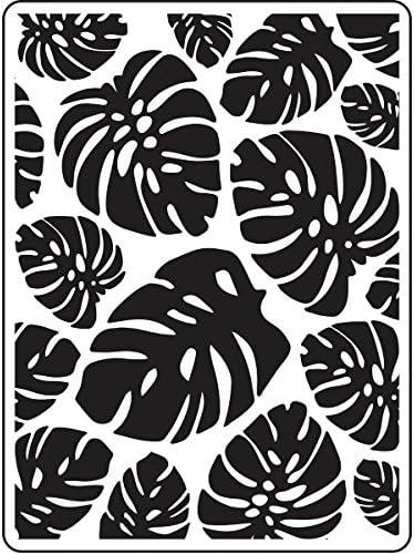 Tropical Palm Leaves 4.25x5.75 Darice Embossing Folder 30023119