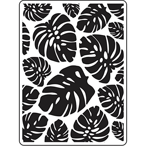 - DARICE 30023119 Embossing Folders: Tropical Palm Leaves Background, Multicolor