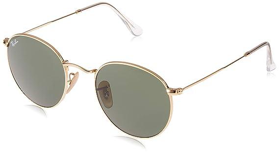 d9593a3da Amazon.com: Ray-Ban ROUND METAL - ARISTA Frame CRYSTAL GREEN Lenses 50mm  Non-Polarized: Ray-Ban: Clothing