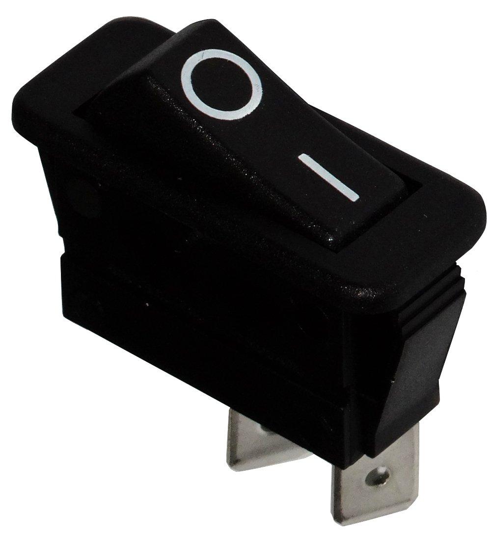 AERZETIX Interruptor conmutador basculantes de boton SPST ON-OFF 16A//250V 20A//28V Negro C10695 2 posiciones