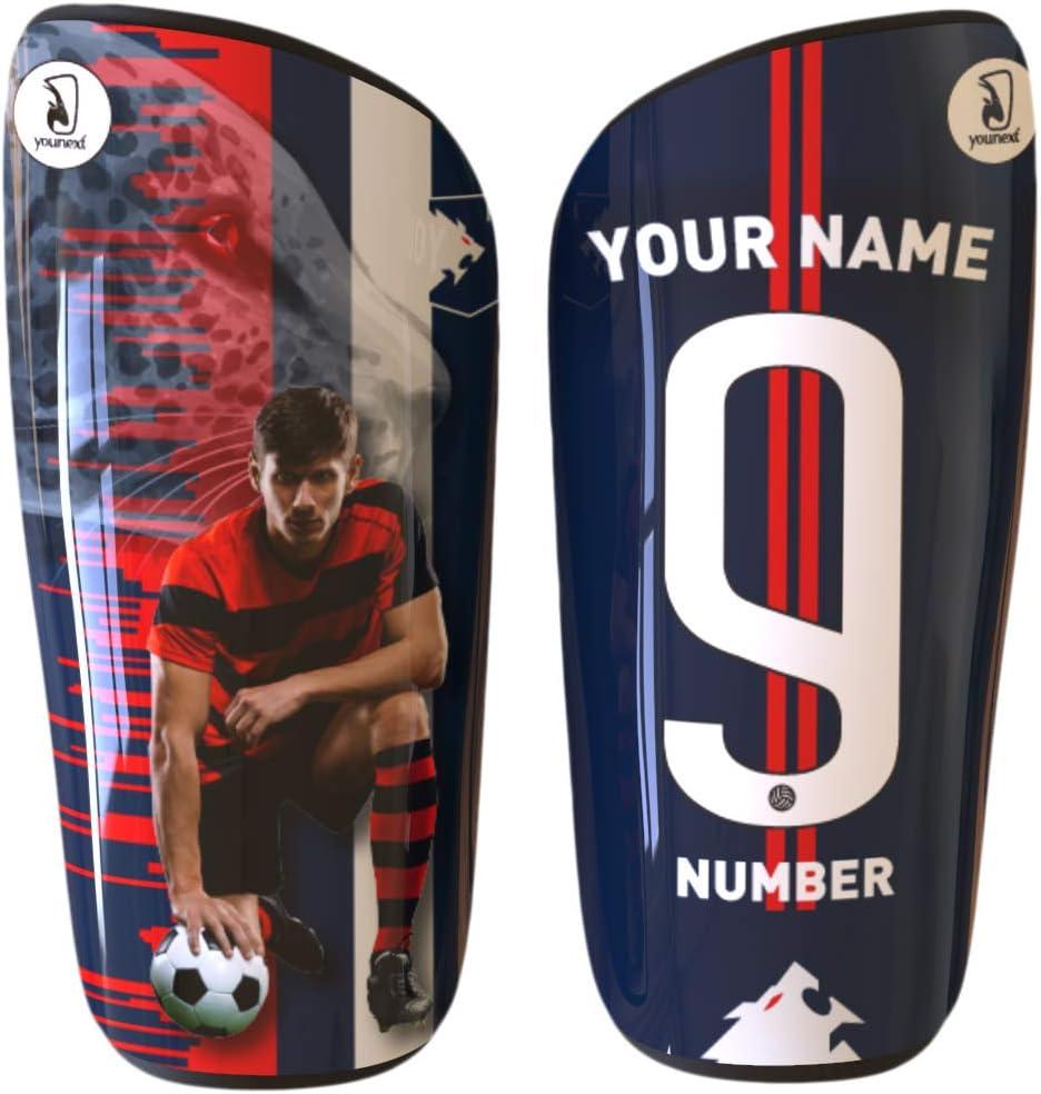 espinilleras personalizadas con foto, nombre y numero