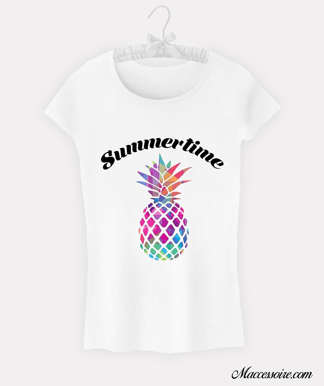 T-Shirt Femme Summertime Pineapple Ananas É té