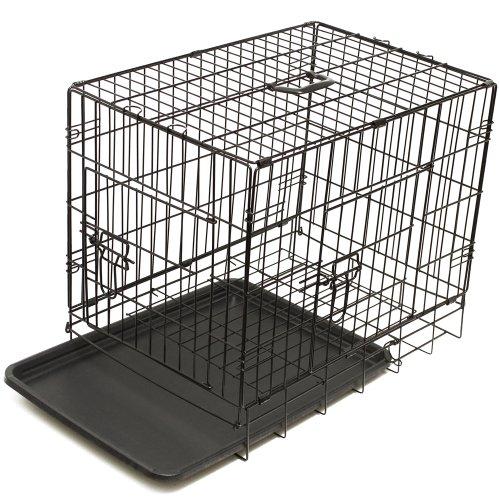 OxGord 42' XXL Dog Crate, Double-Doors Folding Metal w/ Divider & Tray   42' x 27' x 30'   2016 Newly Designed Model