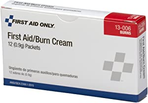 Pac-Kit by First Aid Only 13-006 First Aid/Burn Cream Packet (Box of 12)