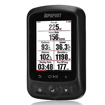 iGPSPORT Ciclo-computadora GPS Bicicleta Wireless Impermeable IPX7 iGS618 Pantalla 2.2´´ GLONASS/BeiDou Ordenador para Ciclismo