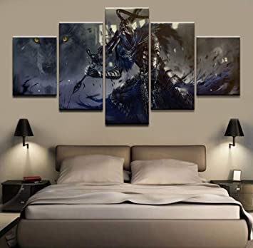 Quadro componibile Home Decor Wall Art Drawing 5 Panel Game ...
