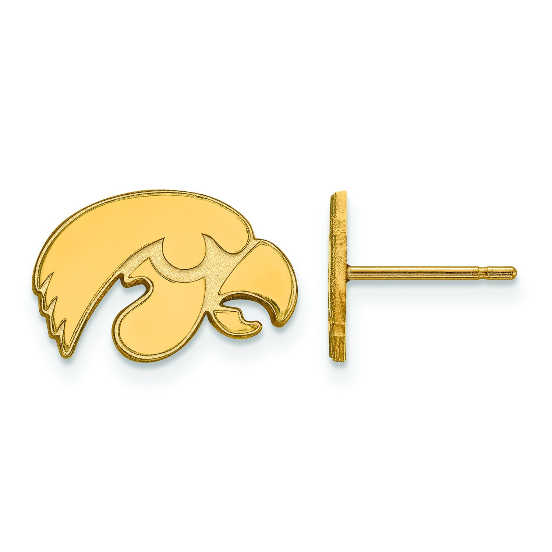 アイオワ州Extra Small (3 / 8インチ) ポストイヤリング(14 Kイエローゴールド)   B01IYEY8YC