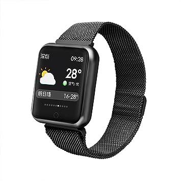 Reloj Inteligente Fitness,Miya Fitness Tracker Impermeable IP68 Bluetooth Smartwatch Reloj Inteligente Actividad para Deporte con Pulsómetro Monitor de ...