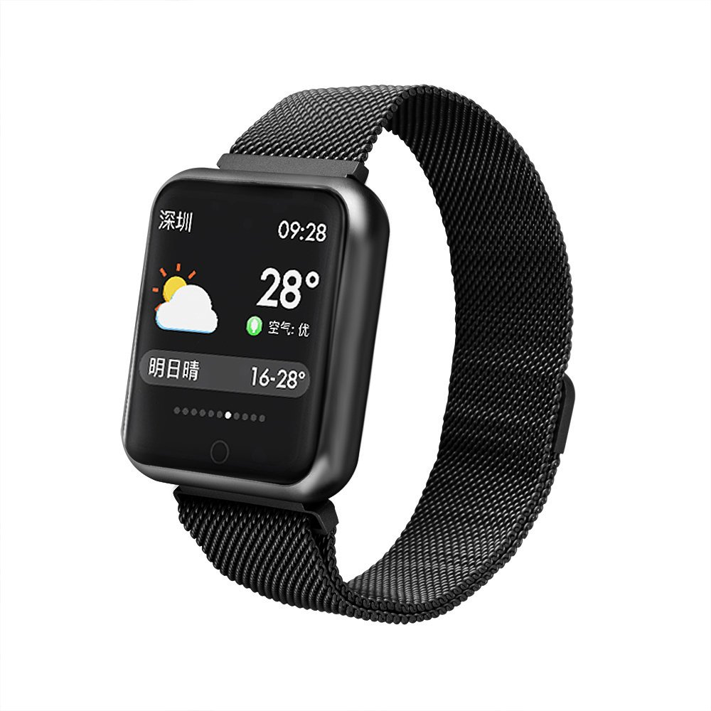 TechCode Activity Tracker Phones, IP68 Waterproof Smart Watch Colour Screen with Heart Rate Monitor Activity Tracker Bracelet Sport Wristband Bluetooth Pedometer Watch for Men Women Boys Girls(Black)