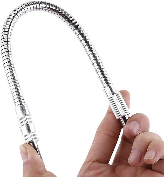 400mm Hex Shank Flexible Shaft Drill Bit Holder Screwdriver Extension Bar