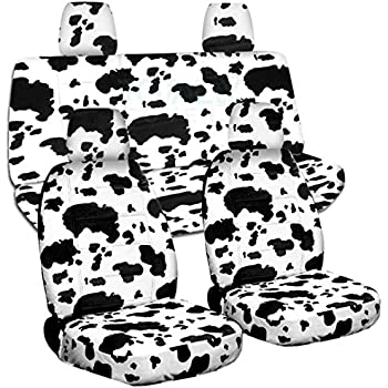 Amazon Com 2011 2018 Jeep Wrangler Jk Animal Print Seat Covers Cow
