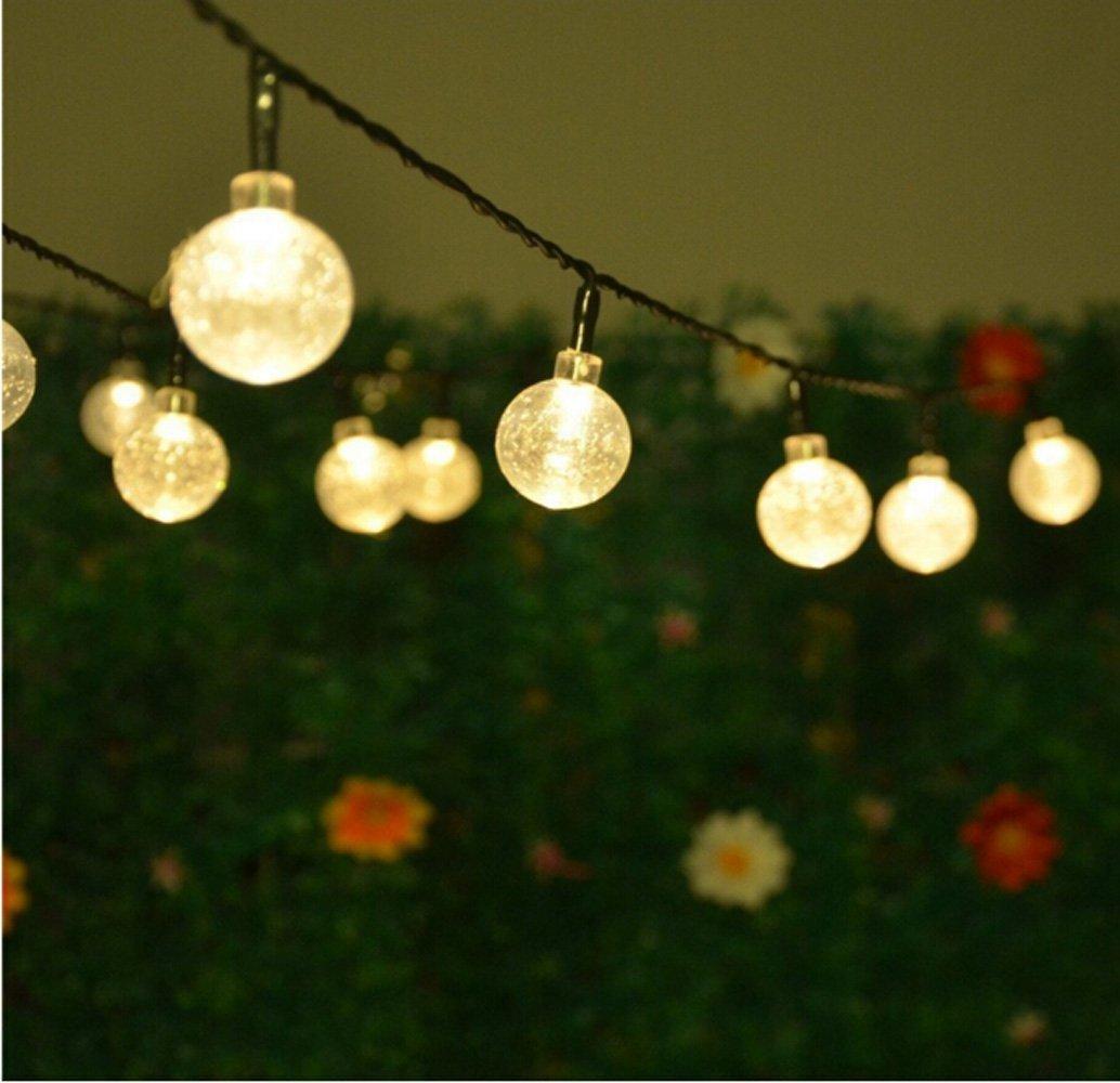 Solar String Light 30 LED 20ft Waterproof Crystal Ball Lights,Solar Globe  Ball Fairy Lights For Garden Outdoor Decorations Christmas Trees, Patio,  Wedding, ...