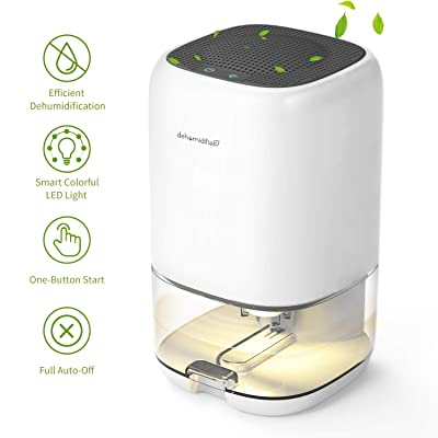.com - AUZKIN Small Dehumidifier for 2100 Cubic Feet (160 sq ft), 35oz (1000ml) Capacity Compact Dehumidifier Portable and Quiet Dehumidifiers for Basements, Home, Bedroom, Bathroom, Garage, Wardrobe, RV -