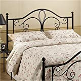 Hawthorne Collections Full Queen Metal Headboard in Brown