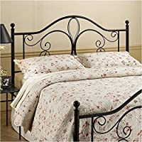 Hawthorne Collections King Metal Headboard in Brown